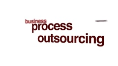 Process outsourcing animated word cloud. Stock Footage