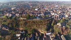 Tilting aerial view of Bridgnorth, Shropshire, UK. Stock Footage