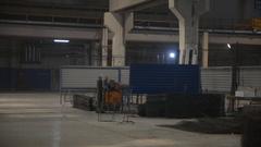 Welding of metal fittings in the workshop Stock Footage