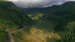 Aerial shot over famous Transfagarasan Stock Footage