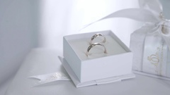 Rings for couples. Diamond ring. Valentine's Day Gift Stock Footage