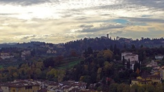 Beautiful aerial view of Florence from the observation platform of Palazzo Vecch Stock Footage