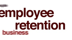 Employee retention animated word cloud. Stock Footage