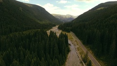 Aerial shot over famous Transalpina serpentine Stock Footage