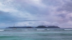 Praslin Sunset Timelapse, La Digue, Seychelles, 4K Stock Footage
