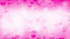 Moving Pink Hearts Abstract Background Stock Footage