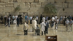 Western Wall in Jerusalem is a major Jewish sacred place. Stock Footage