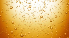 Beautiful Beer Bubbles Rising Up. Loopable 3d Animation Stock Footage