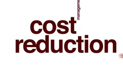Cost reduction animated word cloud. Stock Footage