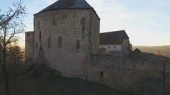 Medieval Castle Tocnik, Czech Republic Stock Footage