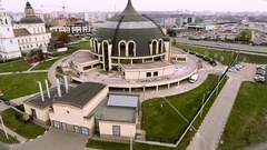 Tula state museum of weapons. Aerial views of the places of Tula. Russia. 4K Stock Footage