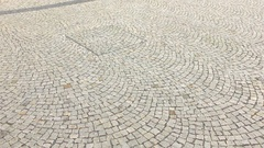 Stone Pavement Texture Olomouc City CZ Stock Footage