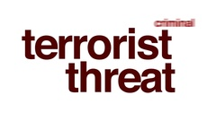 Terrorist threat word cloud text Stock Footage