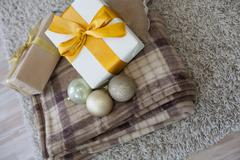 Many Christmas gifts Plaid new year Piirros