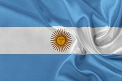 Flag of Argentina. Stock Illustration