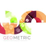 Geometrical minimal abstract background with light effects Stock Illustration