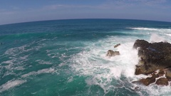 Waves and whitewash in Hawaii, slow motion. Stock Footage