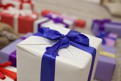 Many Christmas gifts Plaid new year Kuvituskuvat