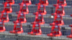 Bleachers seats at a baseball stadium game. Stock Footage