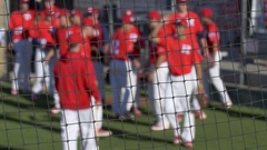 A baseball team before a game. Stock Footage