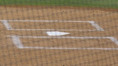 Home plate at a baseball game. Stock Footage