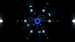 Neon Stargate Stock Footage