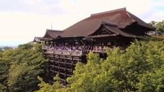 Kiyomizu-dera Buddhist temple in early Autumn Kyoto, Japan. Stock Footage