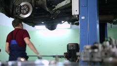 Car repairs and replacement parts Stock Footage