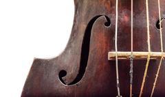 Wooden violin. Stock Photos