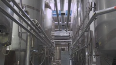 Dairy factory interior Stock Footage