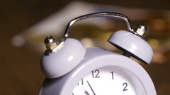Alarm Clock And Money Banknote Stock Footage