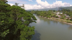 Aerial view of the Rio Napo Stock Footage