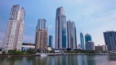 Cityscape hyper lapse - Surfers Paradise, Gold Coast, Queensland, Australia Stock Footage