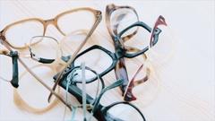 Broken eyeglasses Stock Footage