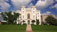 Old Louisiana State Capitol Building in Baton Rouge Stock Footage