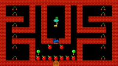 Train puzzle, retro style low resolution pixelated game graphics Stock Footage