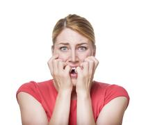 Women scared Stock Photos