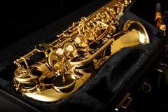 Saxophone detail Stock Photos