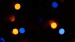 Defocused Christmas lights Stock Footage