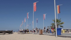 OUISTREHAM, FRANCE - Famous Calvados and  Normandy port Stock Footage