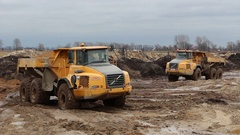 Articulated Haulers Stock Footage