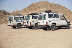 Cars Egypt safari tourism Stock Photos