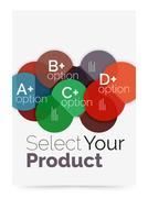 Business layout - select your product with sample options Stock Illustration