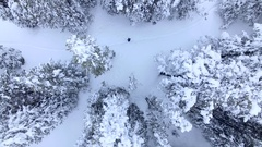 Help!  SOS!  4k aerial drone footage of a lost hiker waving her arms Stock Footage
