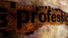Professional text on grunge background Stock Footage
