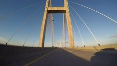 Sidney Lanier Bridge Vehicle Shot Time Lapse Stock Footage