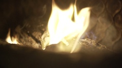 Burning wood in the fireplace Stock Footage