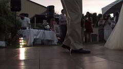 Wedding - Father of the bride dance Stock Footage
