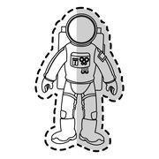 Isolated astronaut design Stock Illustration