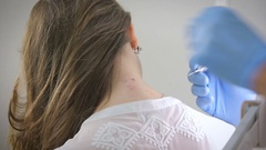 Laser removal of warts Stock Footage